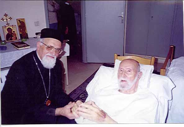 His Beatitude, Gregorios III,  (on left) with His Beatitude, the Retired, Maximos V,  (on right)